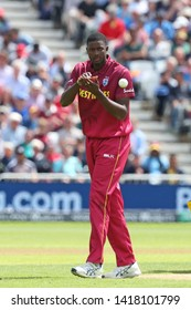 NOTTINGHAM, ENGLAND. 06 JUNE 2019: Jason Holder of West Indies  during the Australia against West Indies, ICC Cricket World Cup match, at Trent Bridge, Nottingham, England.