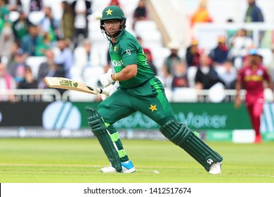 NOTTINGHAM, ENGLAND. 31 MAY 2019: Imam-ul-Haq of Pakistan plays a shot during the West Indies vs Pakistan, ICC Cricket World Cup match, at Trent Bridge, Nottingham, England.