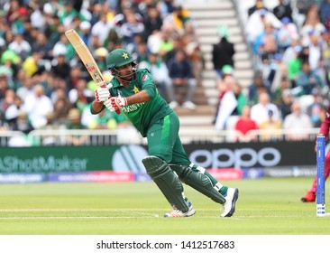 NOTTINGHAM, ENGLAND. 31 MAY 2019: Sarfraz Ahmed of Pakistan plays a shot during the West Indies vs Pakistan, ICC Cricket World Cup match, at Trent Bridge, Nottingham, England.
