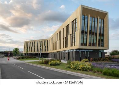 Nottingham, England - May 30, 2019: University of Nottingham Jubilee Campus. Institute for advanced manufacturing Nottingham.