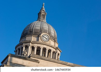 Nottingham, England, UK. February 23, 2019 Nottingham council house building. The city hall of Nottingham located in Old Market Square in Nottingham city centre.