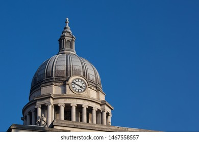 Nottingham, England, UK. February 23, 2019 Nottingham council house building. The city hall of Nottingham located in Old Market Square in Nottingham city centre. UK
