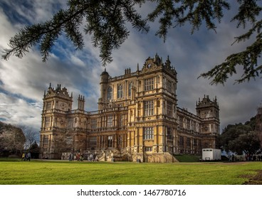 Nottingham, England, UK. January 28, 2019. Wollaton Hall is a spectacular Elizabethan Mansion set in the beautiful suburbs of Nottingham. The setting for 'Wayne Manor' in The Dark Knight Trilogy.