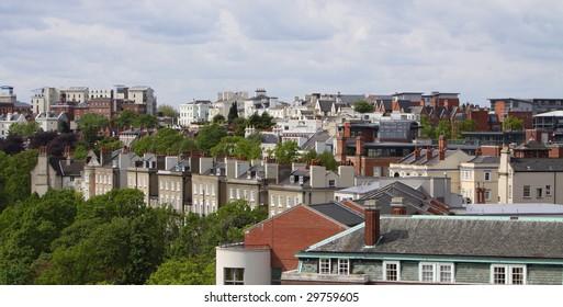 Nottingham skyline england uk