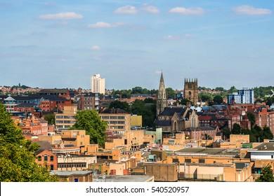 Nottingham skyline. England, UK.
