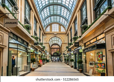 NOTTINGHAM, UK - AUGUST 13, 2016: Interior of shopping centre Exchange. Exchange is city oldest shopping arcade; were constructed in 1927 - 1929 as part of a major project which included Council House