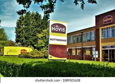 NOTTINGHAM, UK - MAY 13TH 2018: The Hovis Bakery in Watnall, Nottingham, UK.