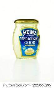 NOTTINGHAM, UK - NOVEMBER 13, 2018: The Kraft Heinz Company (Kraft Heinz) is an American food company based in Chicago, Illinois and Pittsburgh, Pennsylvania.