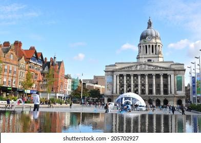 NOTTINGHAM, UK - OCTOBER 14, 2012: Nottingham Council House is the city hall and major landmark of Nottingham.