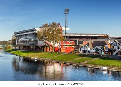 Nottingham,England on 9th Nov 2017:Nottingham Forest Football Club is a professional English football club which plays in the Championship, the second tier of English football.