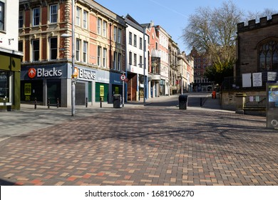 Nottingham,UK. March24th 2020. New Government measures telling public to stay at home for at least three weeks to help combat Coronavirus spread. Empty streets Nottingham City centre.