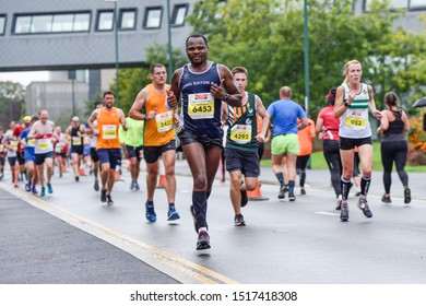 Nottingham,UK. September 29th 2018:Nottingham Ikano half marathon took place today the fast flat course around the city of Nottingham finishing on the Victoria embankment.