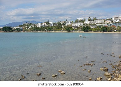 Noumea city coastline, Lemon bay beach, Grande Terre island, New Caledonia, south Pacific