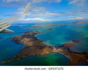 Noumea New Caledonia on the sky