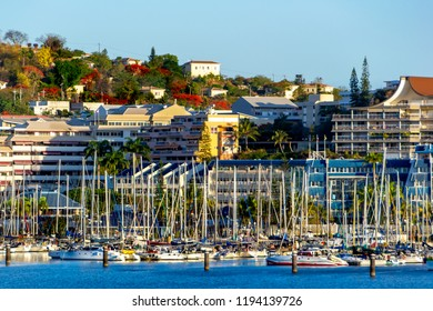 Noumea, New Caledonia-December 22,2017,  view from the cruise ship
