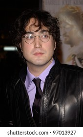 Nov 16, 2004; Los Angeles, CA: SEAN LENNON (son of John Lennon) at the world premiere, in Hollywood, of his new movie Alexander.