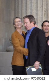 Nov 19, 2004; Los Angeles, CA:  Comedian TIM ALLEN & actress JAMIE LEE CURTIS on Hollywood Boulevard where he was honored with the 2,270th star on the Hollywood Walk of Fame.
