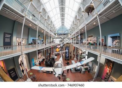 NOV. 2016. - Interior shot of the National Museum of Scotland. Edinburgh, Scotland, UK