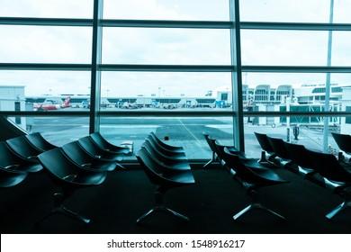 Nov 2019 - Kuala Lumpur, Malaysia: Waiting lobby at departure area inside KLIA2, Kuala Lumpur Internation Airport LCC Terminal.