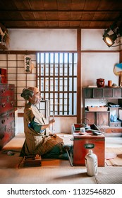 Nov 21, 2013 Hokkaido, JAPAN - Sample of Japanese room at Noboribetsu Date Jidaimura old architecture Edo Historic Village Hokkaido, Japan.