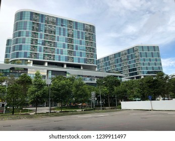 Nov 25/2018 Office buildings near Tai Seng Mrt station during morning, Singapore