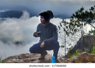 Nov 27 ,2016 ~My Self Portrait Up Above the Sea Of Clouds at Kiltepan Peak,Sagada Mountain Province, Philippines
