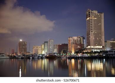 Nov 27,2016 Manila Bay at Harbor Square , Manila , Philippines