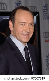 Nov 5, 2004; Los Angeles, CA, USA; Actor KEVIN SPACEY at the USA premiere of his new movie Beyond the Sea. The movie was the opening night film for the 2004 AFI Fest.
