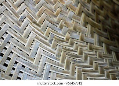 Nov2017, Honiara, Solomon Islandsthe woven part of a big hat worn for sun protection when working in the garden at daytime, woven dried coconut leaf