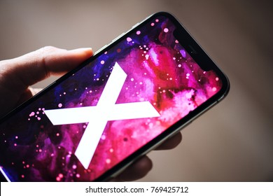 NOVA BANA, SLOVAKIA - NOV 28, 2017: New Apple iPhone X smartphone.