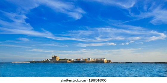 Nova Tabarca island skyline in Alicante of Spain