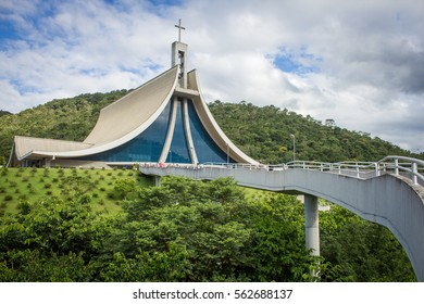 NOVA TRENTO, SANTA CATARINA, BRASIL  - MARCH 13, 2016: Sanctuary of St. Paulina in Vigolo