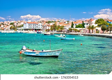 Novalja, island of Pag. Town of Novalja colorful waterfront view, Dalmatia region of Croatia