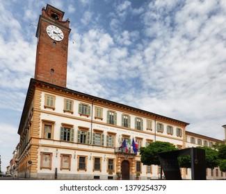 Novara, Piedmont - Italy. Historic palazzo del governo in city center