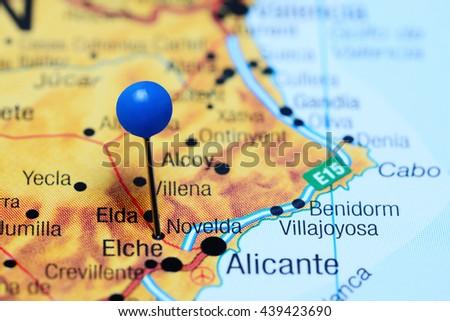 Novelda Pinned On Map Spain Stockfoto (Jetzt bearbeiten) 439423690 ...