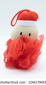 Novelty Bath Shower Sponge in the theme of Santa and Christmas