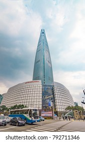 November 01,2017 front of Lotte World Tower , Seoul , Korea
