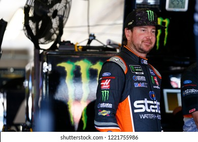 November 02, 2018 - Ft. Worth, Texas, USA: November 02, 2018 - Ft. Worth, Texas, USA: Kurt Busch (41) hangs out in the garage during practice for the AAA Texas 500 at Texas Motor Speedway
