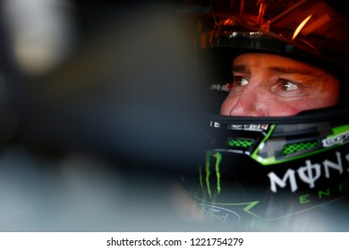 November 03, 2018 - Ft. Worth, Texas, USA: Kurt Busch (41) hangs out in the garage during practice for the AAA Texas 500 at Texas Motor Speedway in Ft. Worth, Texas.