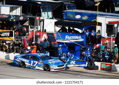 November 04, 2018 - Ft. Worth, Texas, USA: Ricky Stenhouse, Jr (17) comes down pit road for service during the AAA Texas 500 at Texas Motor Speedway in Ft. Worth, Texas.