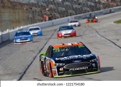 November 04, 2018 - Ft. Worth, Texas, USA: Kurt Busch (41) battles through the turns for position during the AAA Texas 500 at Texas Motor Speedway in Ft. Worth, Texas.