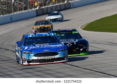 November 04, 2018 - Ft. Worth, Texas, USA: Ricky Stenhouse, Jr (17) battles through the turns for position during the AAA Texas 500 at Texas Motor Speedway in Ft. Worth, Texas.