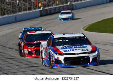 November 04, 2018 - Ft. Worth, Texas, USA: AJ Allmendinger (47) battles through the turns for position during the AAA Texas 500 at Texas Motor Speedway in Ft. Worth, Texas.