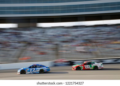 November 04, 2018 - Ft. Worth, Texas, USA: Ricky Stenhouse, Jr (17) races during the AAA Texas 500 at Texas Motor Speedway in Ft. Worth, Texas.