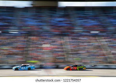 November 04, 2018 - Ft. Worth, Texas, USA: Martin Truex, Jr (78) races during the AAA Texas 500 at Texas Motor Speedway in Ft. Worth, Texas.