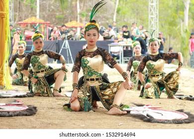 November 06, 2019. Jatilan Dance in Kembul Sewu Dulur Tradition of Kulonprogo, Yogyakarta
