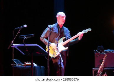 NOVEMBER 1, 2014 - BERLIN: Elliott Sharp - concert at the Jazzfest Berlin.