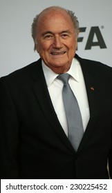 """NOVEMBER 10, 2014 - BERLIN: FIFA boss Sepp Blatter - premiere of the documentary film """"Die Mannschaft"""" (the team) about the win of the football world cup 2014, Sony Center, Berlin."""