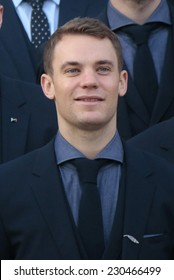 NOVEMBER 10, 2014 - BERLIN: Manuel Neuer - official reception of the German national football team (world champion 2014) at the Schloss Bellevue by the German Federal President.