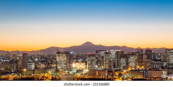 November 11, 2014: Tokyo bay, a good view point to see night view of Tokyo.